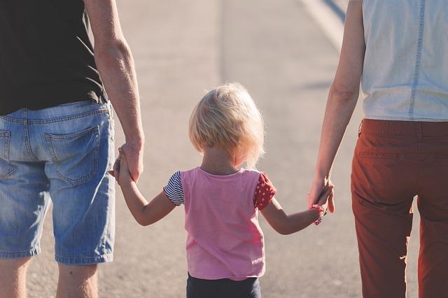 procházka s rodiči